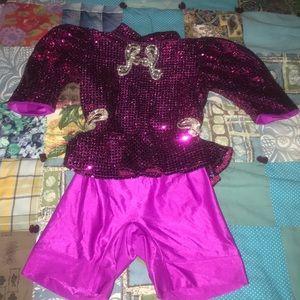 Sequin dance suit